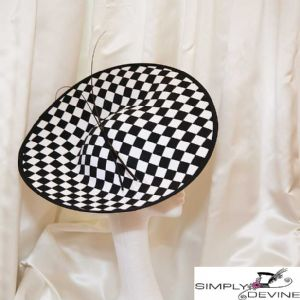 Black and white chequered hatinator LH18